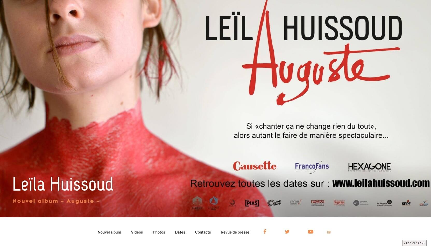 Site web de Leïla Huissoud